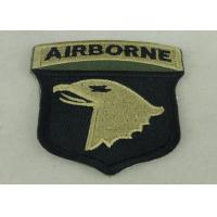 Air Borne Custom Embroidered Patch Cotton Printed Sew On Patches