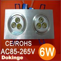 Wholesale high brightness 6W 600lm 220v 110v epistar chip led square ceiling light 2 years warranty from china suppliers