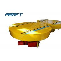 Buy cheap Heavy load industrial turntable rail transfer Car Rotating Platform Garage for factory cargo crossing transportation from wholesalers