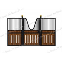 Wholesale Black Style European Horse Stalls Fronts Panel Steel Pipe Material from china suppliers