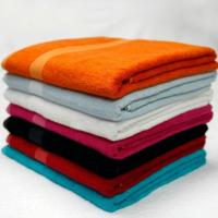 Wholesale Orange Cotton Bamboo Towels , Yellow / Blue / White Custom Printed Towels from china suppliers