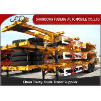 Wholesale 40 Feet Flatbed Skeleton Shipping Container Trailer Mechanical / Air Suspension from china suppliers