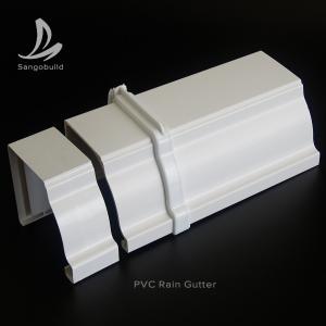 Rectangular PVC Rain water Guttes Factory Wholesale Price UV Resistant Plastic PVC roof rain gutter aluminum rain gutter