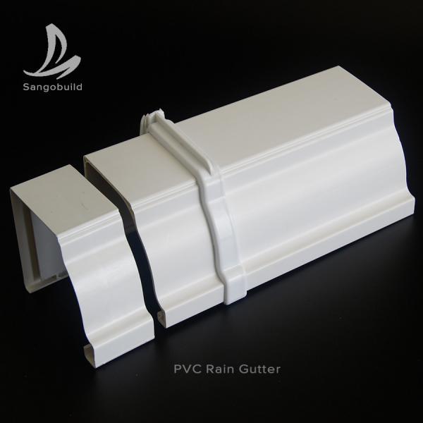 Quality Rectangular PVC Rain water Guttes Factory Wholesale Price UV Resistant Plastic PVC roof rain gutter aluminum rain gutter for sale