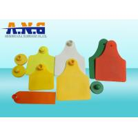 China Radio Frequency Identification RFID Animal Ear Tag For Livestock on sale