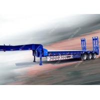 Wholesale Heavy Duty 3 Axle Low Bed Trailer , Semi 100 Tons Low Loader Truck Trailer from china suppliers