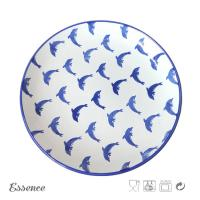 Wholesale Custom Decal Ceramic Dessert Plates , 8.25 Inch Cream Stoneware Dishes Eco Friendly from china suppliers