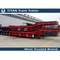 Removable Low Bed Trailer For Heavy Transports , detachable gooseneck trailers