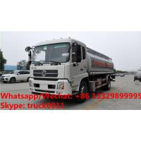 Wholesale Factory sale bottom price dongfeng 18,000Liters oil tank delivery truck, HOT SALE!dongfeng 4*2 LHD fuel tank truck from china suppliers