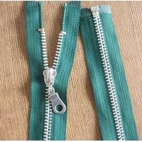 Wholesale 8# Light Gold Teeth Long Separation Metal Zippers For Tent , Sleeping Bag from china suppliers