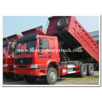 Buy cheap 336 hp Howo 6x4 dump truck 10 wheels red dump truck for tough road from Wholesalers