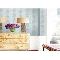 1.06*10m Size Deep Embossed Patterned Wallpaper Stripe Design For Sitting Room