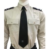 Buy cheap Long Sleeve Custom Security Shirts For Men , 65% Polyester 35% Cotton Materials from Wholesalers