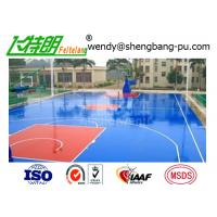 Green spu sports flooring material rubber floor coating for Sport court paint
