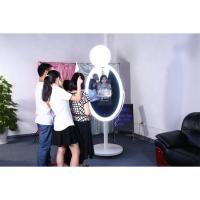 China Hight Brightness Magic Mirror Photo Booth Machine Capacitive Touch 10 Points on sale