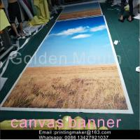 Wholesale Waterproof Chemical Fabric Canvas Banner Printing Service from china suppliers