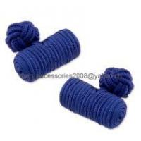 Wholesale silk knot cuff link from china suppliers