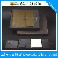 Wholesale 3 Folders Notebook with paper filler with closure and pen gift from china suppliers