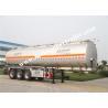 European Standard Three Axles Aluminum tank trailer for fuel delivery trucks