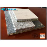 China Edge Sealed Marble Flat Board Aluminum Stone Honeycomb Panel Customized Thickness on sale