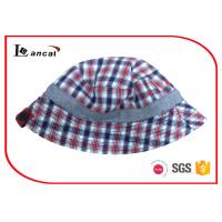 Buy cheap Reversible Fishing Bucket Hat , Check And Herringbone Fisherman Hat With Button from Wholesalers