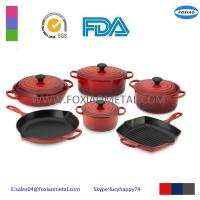 China enameled cast iron cookware sets on sale