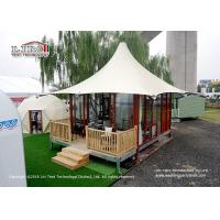 Wholesale High Peak 5m Width 2 People Luxury Glamping Tents With Wooden Flooring System from china suppliers