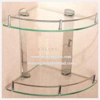 Wholesale Double Layer Bathroom Glass Shelf with Tempered/Toughened Glass from china suppliers