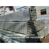 ERW Rectangular section hot dip galvanized square pipe Q195 best quality