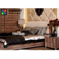 China Eco Modern Luxury European Classical Dark Wooden Beds for House , Hotel on sale