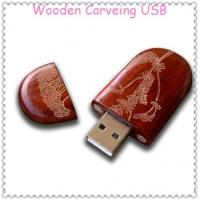 Wholesale Carveing Wooden USB Flash Drive from china suppliers