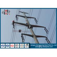 Wholesale 10-220KV Steel Transmission Poles For Electrical Distribution Over Headline Project Q235 from china suppliers