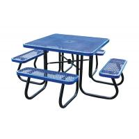 China Stainless Steel Picnic Table Metal Outdoor Furniture , Heavy Duty Garden Bench Table on sale