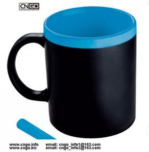 Wholesale wholesale custom 11oz black Chalk mug Memo mug Write Message mug can erase ceramic mug cup from china suppliers