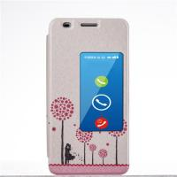 Quality PU Leather Case Huawei Honor 6 Cases and Covers with Stand and Window for sale