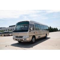 Wholesale 4×2 Commercial Toyota Coaster Motorhome Vehicles Folding Door Staff Small ISUZU Engine from china suppliers
