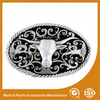 Buy cheap Zinc Alloy Goat Head Cowboy Custom Belt Buckles Polishing , Powder Coating from Wholesalers