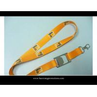 Quality Wholesale sublimation printed logo 2*90cm yellow lanyard from china market for sale