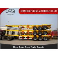 Wholesale 3 Axles Chassis Container Trailer 20ft / 40ft Containers Transporting from china suppliers