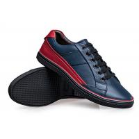 Fall Season Mens Leather Skate Shoes , Black Skateboard Shoes EU 39-46 Size