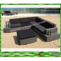 China 100% hand-weaved garden Rattan Sofa Set With Alum Coated Frame on sale