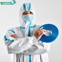 China Hot Air Melt Blue EVA Heat Seam Sealing Adhesive Tape for Medical Disposable Isolation Clothing on sale