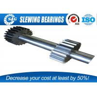 Wholesale Long Life Steel Spur Gear Shaft , Involute Spline Shaft With Blackened Oxide Finish from china suppliers