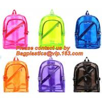 Wholesale Backpack Bag Casual Backpack For Women, outdoor clear pvc plastic backpack, school travel backpack with padded shoulder from china suppliers
