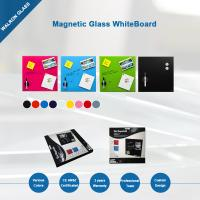 Magnetic Glass Whiteboard, Dry-Erase Board