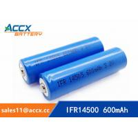 Wholesale shaver battery lithium ifr14500 3.2v 600mAh AA rechargeable battery from china suppliers