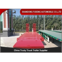 Wholesale Steel 3 Axle 80 Tons Gooseneck Low Bed Semi Trailer from china suppliers
