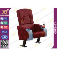 Plywood Inner Shell PU Foam Cushion Cinema Theater Chairs , Commercial Movie Theater Seats