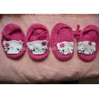 Wholesale 9cm Soft CrochetToddler Shoes Breathable 100% Acrylic Hello Kitty Pattern from china suppliers