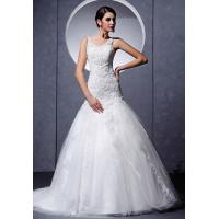 Wholesale Charming Strap V Neckline Mermaid Lace Wedding Gown With Beads Online from china suppliers